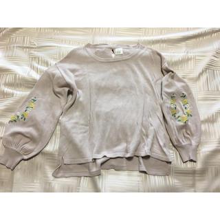 ズーティー(Zootie)のzootie 花刺繍 パフスリーブニット Mサイズ(ニット/セーター)