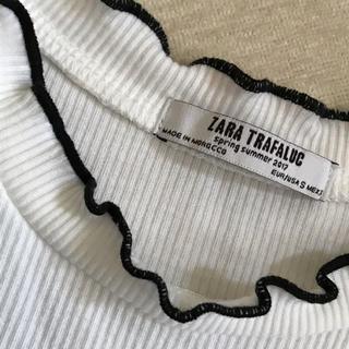 ザラ(ZARA)のZARA フリルTシャツ(Tシャツ(半袖/袖なし))