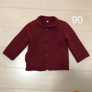 ムジルシリョウヒン(MUJI (無印良品))の無印良品 赤 コート 90(ジャケット/上着)