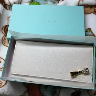 サマンサタバサプチチョイス(Samantha Thavasa Petit Choice)のサマンサタバサ 長財布 リボン ホワイト ベージュ(財布)