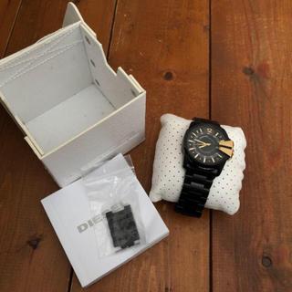 ディーゼル(DIESEL)のディーゼル 腕時計 黒 金(腕時計(アナログ))