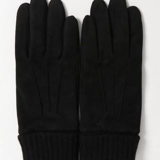 ジュンレッド(JUNRED)のジュンレッド ゴートスエードグローブ 新品未使用 ブラック 定価8532円(手袋)