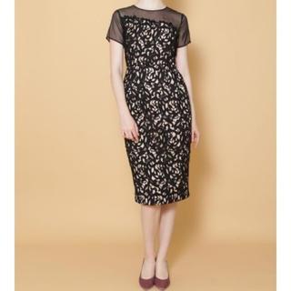 ラグナムーン(LagunaMoon)のLADY ケミカルレースタイトドレス(ミディアムドレス)