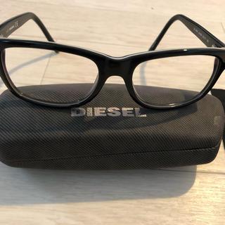 ディーゼル(DIESEL)のDIESEL ディーゼル 眼鏡 ブルーレンズカット 度無し 黒縁(サングラス/メガネ)