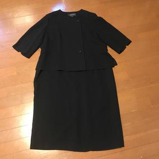 ソワール(SOIR)の美品東京ソワールSOIR BENIRのジャケット一体型喪服ワンピース 21号(礼服/喪服)