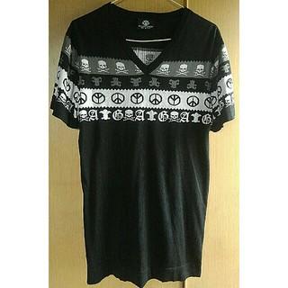エーアンドジー(A&G)のA&G  シルク ニット Vネック Tシャツ エーアンドジー L(Tシャツ/カットソー(半袖/袖なし))