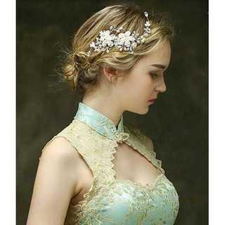 ヘアアクセサリー ヘッドドレス ウエディング 花嫁 髪飾り 新品(その他)