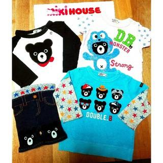 ダブルビー(DOUBLE.B)のオススメ◆ミキハウス ダブルB ◆Tシャツ、スパッツ4点セット80センチ(Tシャツ)
