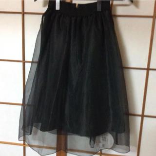 スコットクラブ(SCOT CLUB)の定価15000円 新品チュール付きスカート(ひざ丈スカート)
