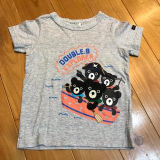 ダブルビー(DOUBLE.B)のダブルBグレー半袖T100(Tシャツ/カットソー)