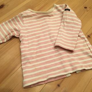 デニムダンガリー(DENIM DUNGAREE)のサイズ2 デニム&ダンガリー ボーダー ロンt(Tシャツ)