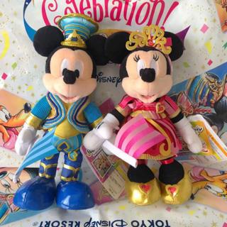ディズニー(Disney)の新品タグ付♡ ポージープラッシー  ミッキー ミニー 35周年 (キャラクターグッズ)