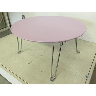 丸型折りたたみテーブル S-60R ピンク(No.00662)(折たたみテーブル)