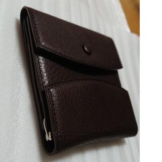 ガンゾ(GANZO)の超美品 ガンゾ 折財布 マネークリップ 本革 ブラウン(マネークリップ)