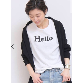 ドゥーズィエムクラス(DEUXIEME CLASSE)のMADISONBLUE HALLO Tシャツ 白 02(シャツ/ブラウス(半袖/袖なし))