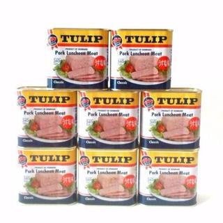 【送料無料】沖縄 チューリップポーク うす塩味 8缶セット!(缶詰/瓶詰)