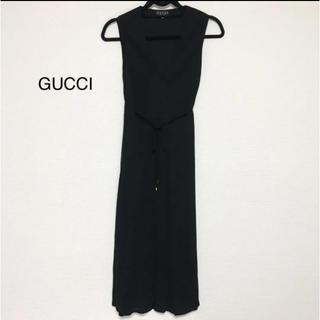グッチ(Gucci)のグッチ メッシュ ロングワンピース ブラック(ロングワンピース/マキシワンピース)