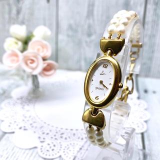 タサキ(TASAKI)の【希少】田崎真珠 TASAKI SHINJU タサキ 腕時計 2連 パール(腕時計)