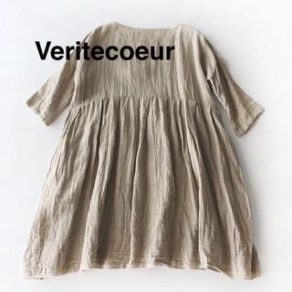 ヴェリテクール(Veritecoeur)の新品 Veritecoeur チュニックワンピース vc1437  リネン(ロングワンピース/マキシワンピース)
