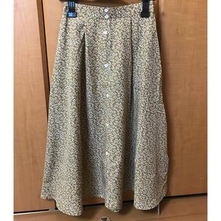 エージープラス(a.g.plus)の小花柄 ロングスカート 新品未使用(ロングスカート)