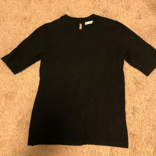 ザラ(ZARA)のZARA  スプリングニット 黒(カットソー(半袖/袖なし))