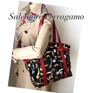 サルヴァトーレフェラガモ(Salvatore Ferragamo)の美品‼️フェラガモ✨マルチ柄❤️華やか トート(送料込)(トートバッグ)