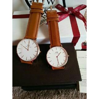 ダニエルウェリントン(Daniel Wellington)の再出品【ブラウン40MM&36MM】正規品 ダニエルウェリントン 腕時計(腕時計(アナログ))