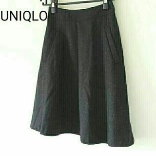 ユニクロ(UNIQLO)の極美品*ユニクロ*ウールフレアスカート(ひざ丈スカート)