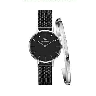 ダニエルウェリントン(Daniel Wellington)の女性に大人気 クラッシーブラック ダニエルウェリントン 腕時計とバングル セット(腕時計)