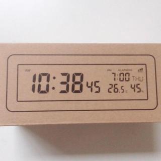 MUJI (無印良品) - 無印良品 デジタル電波時計 大音量アラーム機能付 ホワイト 白