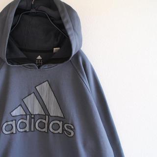アディダス(adidas)のUS アディダス 刺繍 プルオーバー パーカー L(パーカー)