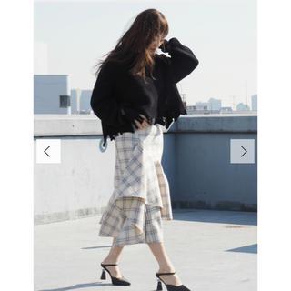 エヴリス(EVRIS)の【新品タグ EVRIS】チェックオーバーラップスカート(ひざ丈スカート)