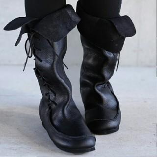 アンティカ(antiqua)の【antiqua アンティカ】本革編み上げブーツ(新品送料込)(ブーツ)