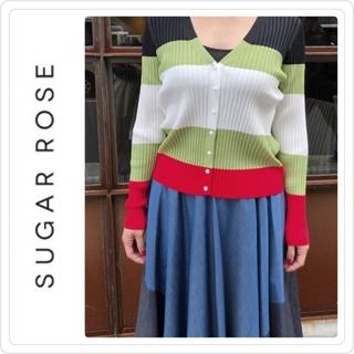 ドレスレイブ(DRESSLAVE)の新品♡定価11880♡Sugar Rose カラーボーダーリブカーディガン(カーディガン)
