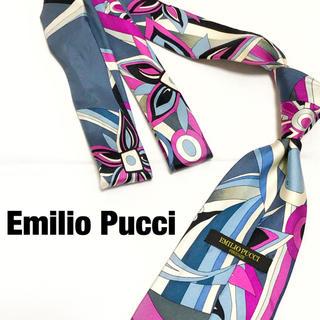 エミリオプッチ(EMILIO PUCCI)の【廃盤】Emilio Pucci シルクネクタイ 剣幅9.5 プッチ柄 幾何学(ネクタイ)