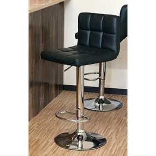 ブラック/カウンターチェア/椅子/高さ調整可能/ハイチェア/カフェ/レザー(ダイニングチェア)