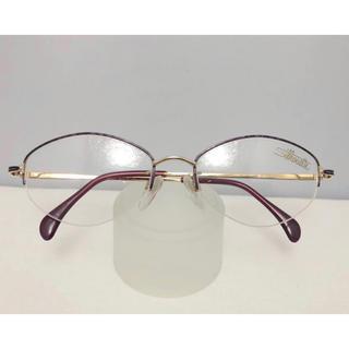 シルエット(Silhouette)のシルエット 日本製 フォーマル 軽い 眼鏡 フレーム 紫 金 メガネ めがね(サングラス/メガネ)