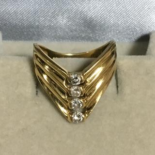 ジュエリーツツミ(JEWELRY TSUTSUMI)のk18 幅広ダイヤリング(リング(指輪))