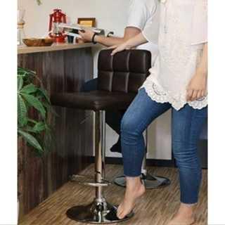 ブラウン/カウンターチェア/椅子/高さ調整可能/ハイチェア/カフェ/レザー(ダイニングチェア)