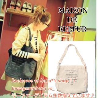 メゾンドリーファー(Maison de Reefur)のメゾンドリーファー リネンショルダーバッグ ホワイト 白 トートバッグ(トートバッグ)