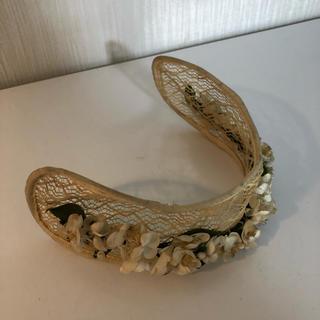 グリモワール(Grimoire)のMeno ヴィンテージ アンティーク ベッドドレス 帽子 ヘアアクセサリー(カチューシャ)