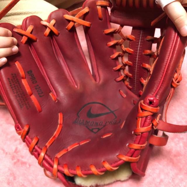 NIKE(ナイキ)の軟式グローブ NIKE 左利き用 スポーツ/アウトドアの野球(グローブ)の商品写真