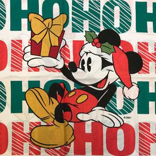 ディズニー(Disney)のa-47 ミッキー レア ピローケース ビンテージシーツ(生地/糸)