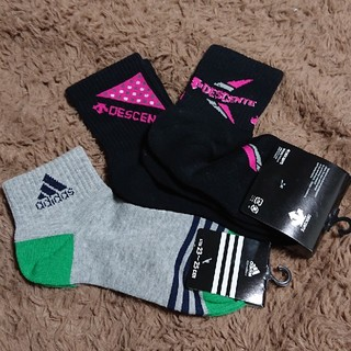 アディダス(adidas)の3足セットソックス(アディダス、デサント)(ソックス)