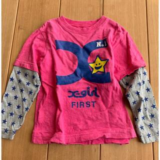 エックスガールステージス(X-girl Stages)のX-girl first stage ロングTシャツ 110センチ(Tシャツ/カットソー)