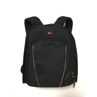 耐水性 DURAGADGET コンパクトバックパック カメラ リュック ブラック(ケース/バッグ)