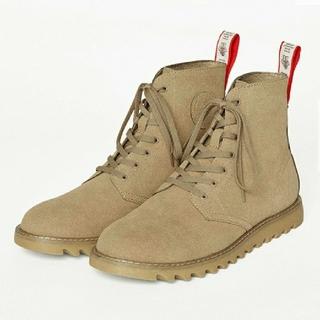 ジーユー(GU)の25cm NAOTO×GU 大型店舗&オンライン限定 ブーツ ベージュ(ブーツ)