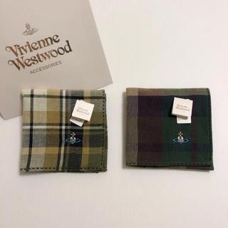 ヴィヴィアンウエストウッド(Vivienne Westwood)の2枚 ⭐️ 新品 ヴィヴィアン ウエストウッド ハンカチ ④ グリーン系 セット(ハンカチ/ポケットチーフ)