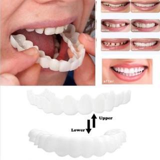 歯のカバー スナップオンスマイル 上歯下歯兼用 2ピースセット  付け歯(その他)