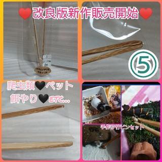 爬虫類ペット餌やり手作り竹ピンセット⑤(爬虫類/両生類用品)